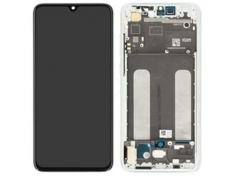 Xiaomi Mi 9 Lite LCD + Touch + Frame - White (Service Pack)