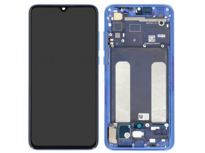 Xiaomi Mi 9 Lite LCD + Touch + Frame - Blue (Service Pack)