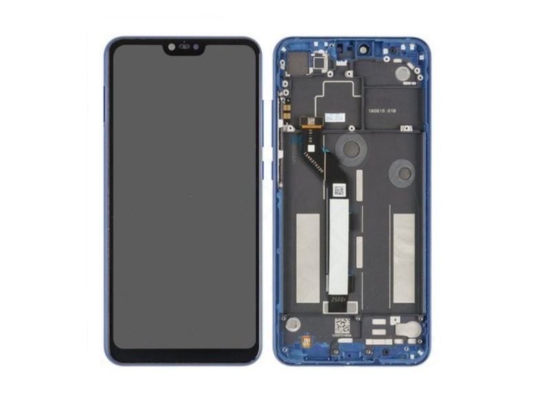 Xiaomi Mi 8 Lite LCD + Touch + Frame - Blue (Service Pack)