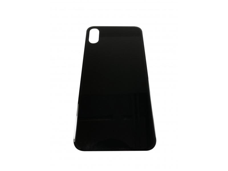 Back Cover Glass + Big Camera Hole pro Apple iPhone XS (Black)