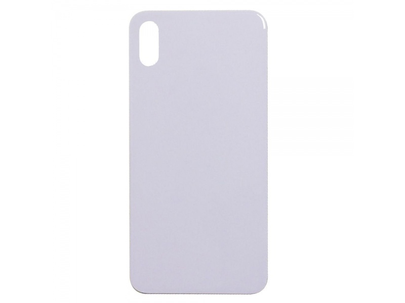 Back Cover Glass pro Apple iPhone XS (Silver)