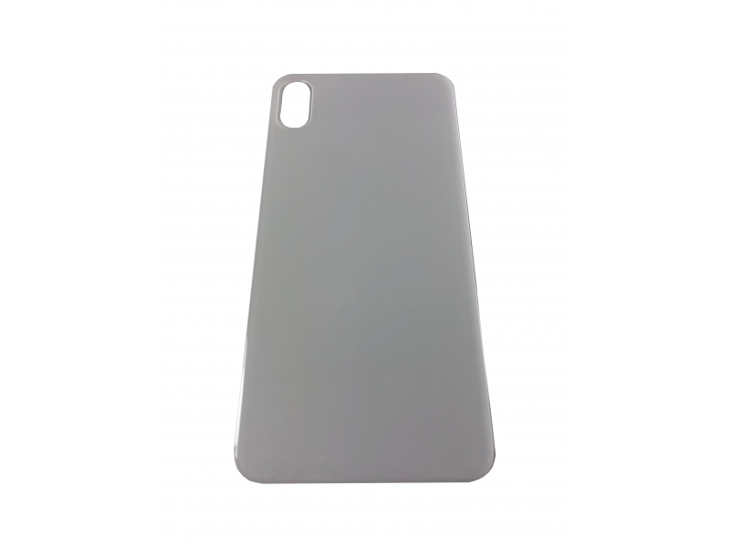 Back Cover Glass + Big Camera Hole pro Apple iPhone XS Max (Silver)