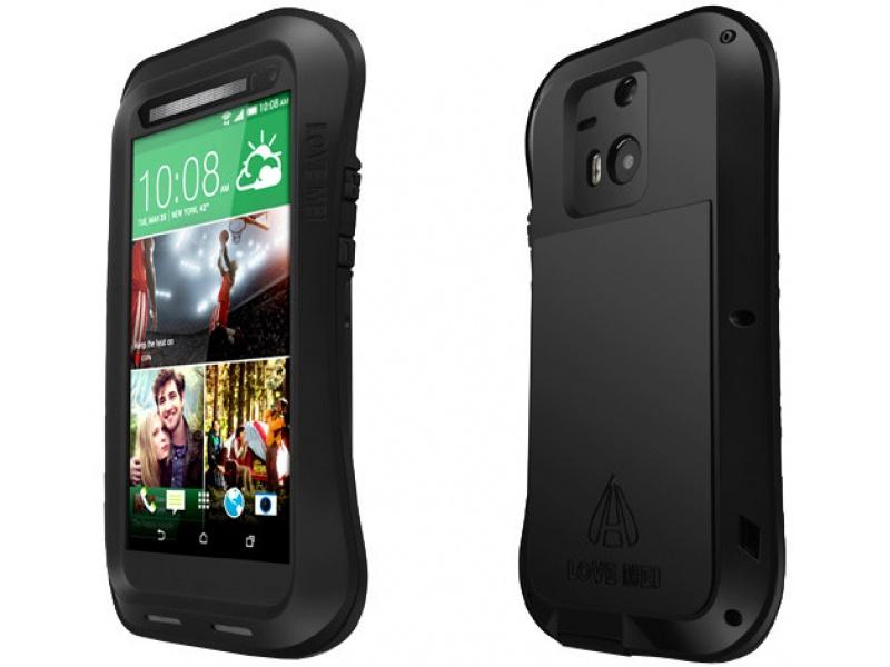 LMC HTC M8 Three Anti Protective Shell (Waistline Version) Black and Black