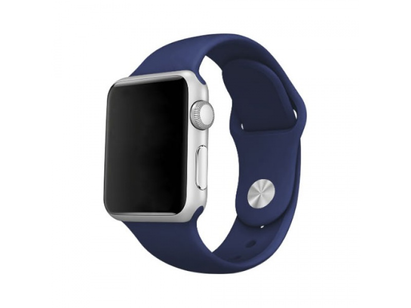 COTEetCI Silicone Sports Band for Apple Watch 42 / 44mm Dark Blue
