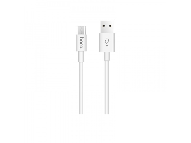 Hoco Skilled Charging Data Cable - Micro USB (1m) (White)