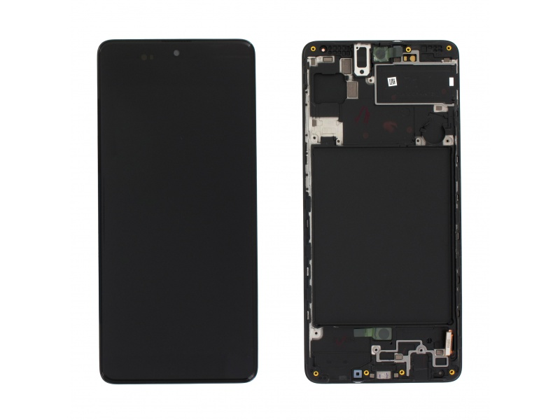 Samsung Galaxy A71 A715 LCD + Touch + Frame Black (Service Pack)