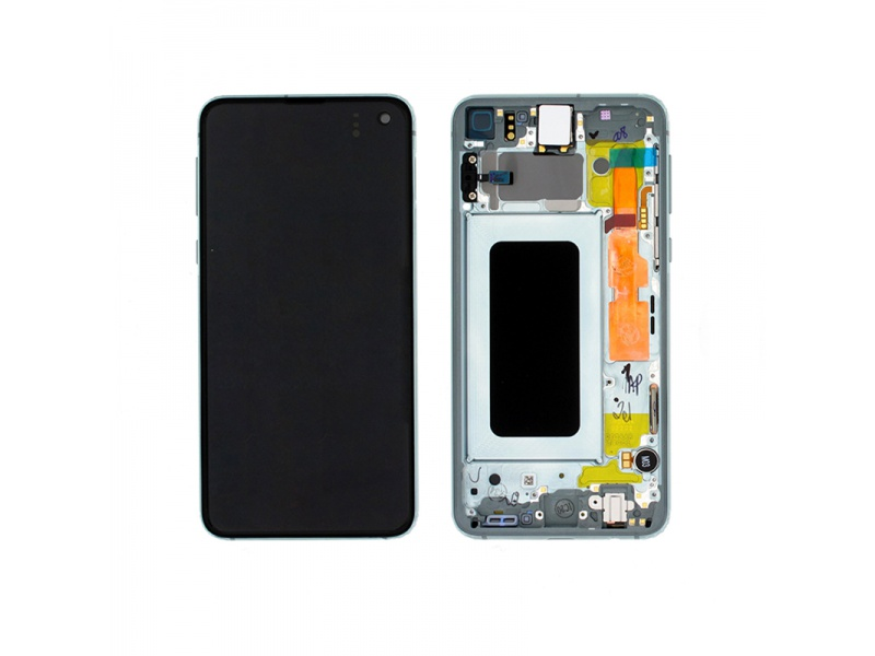 Samsung Galaxy S10e G970 LCD + Touch + Frame Green (Service Pack)