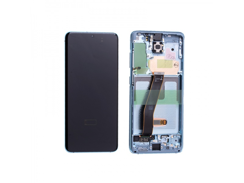 Samsung Galaxy S20 G980 LCD + Touch + Frame Cloud Blue (Service Pack)