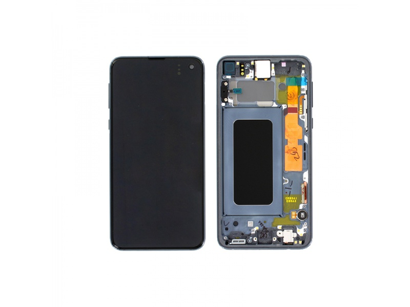 Samsung Galaxy S10e G970 LCD + Touch + Frame Black (Service Pack)