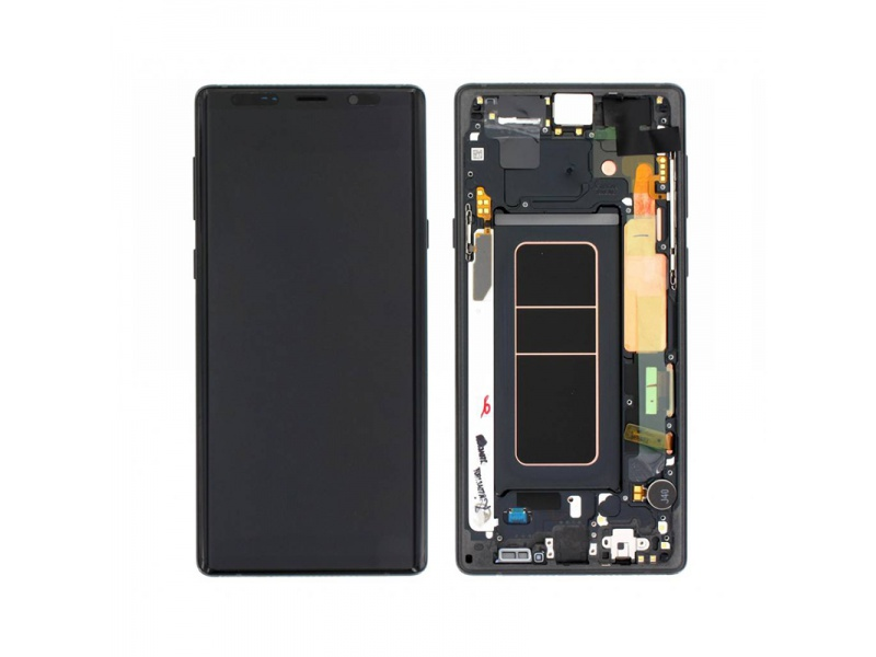 Samsung Galaxy Note 9 N960 LCD + Touch + Frame Black (Service Pack)