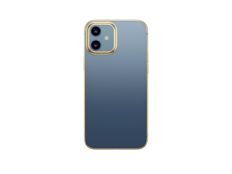 Baseus Shining Case (Anti-fall) for iPhone 12 6.1 Transparent-Gold