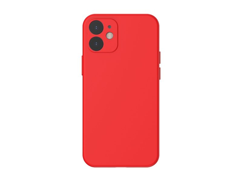 Baseus Liquid Silica Gel Protective Case for iPhone 12 Mini 5.4 Red