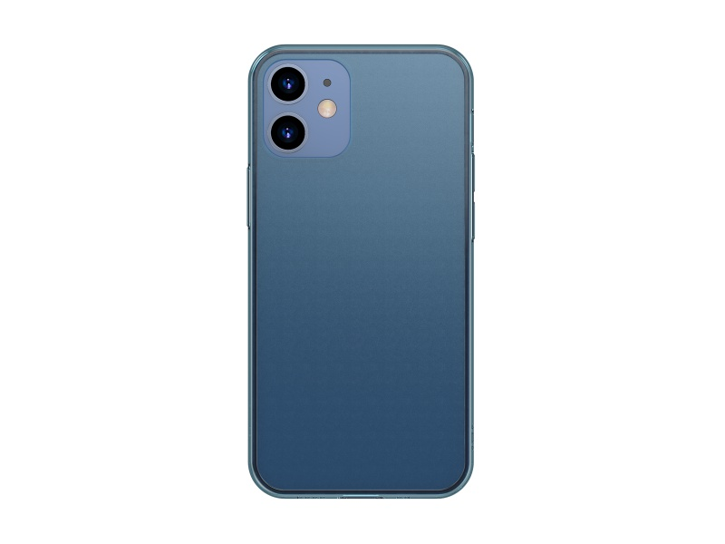 Baseus Frosted Glass Protective Case for iPhone 12 / 12 Pro 6.1 Transparent Blue
