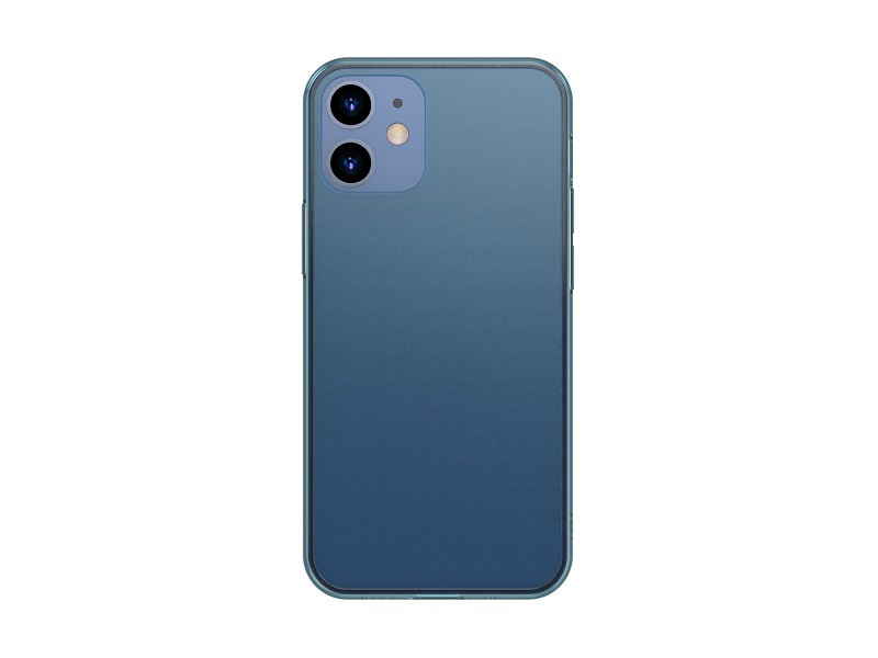 Baseus Frosted Glass Protective Case for iPhone 12 Mini 5.4 Transparent Blue