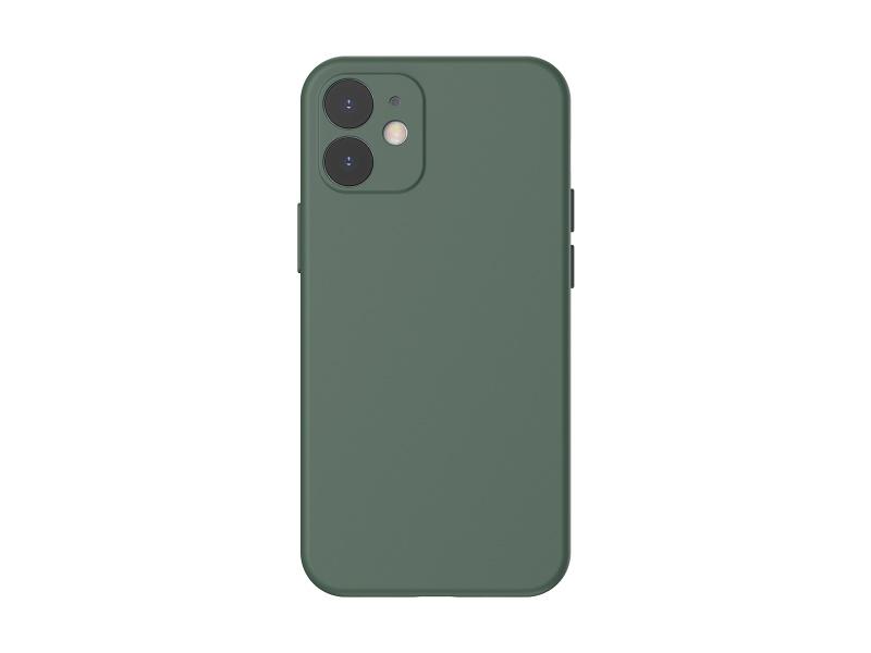 Baseus Liquid Silica Gel Protective Case for iPhone 12 Mini 5.4 Green