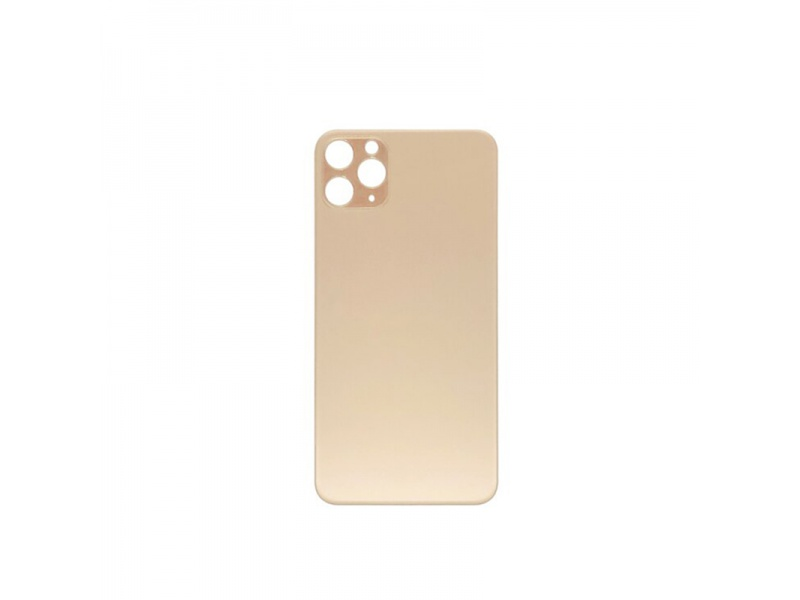 Back Cover Glass + Big Camera Hole pro Apple iPhone 11 Pro Max (Gold)