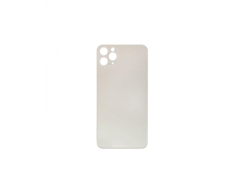 Back Cover Glass + Big Camera Hole pro Apple iPhone 11 Pro (Silver)