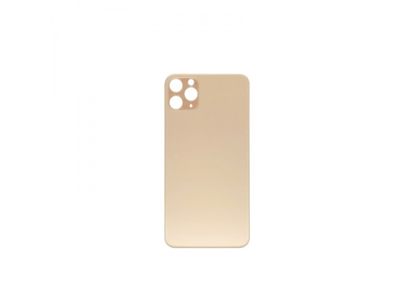 Back Cover Glass + Big Camera Hole pro Apple iPhone 11 Pro (Gold)