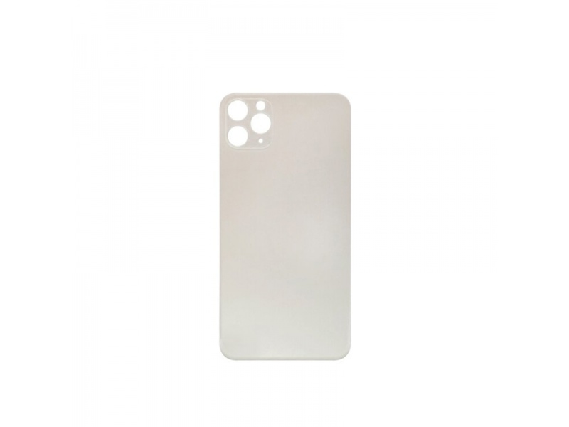 Back Cover Glass + Big Camera Hole pro Apple iPhone 11 Pro Max (Silver)