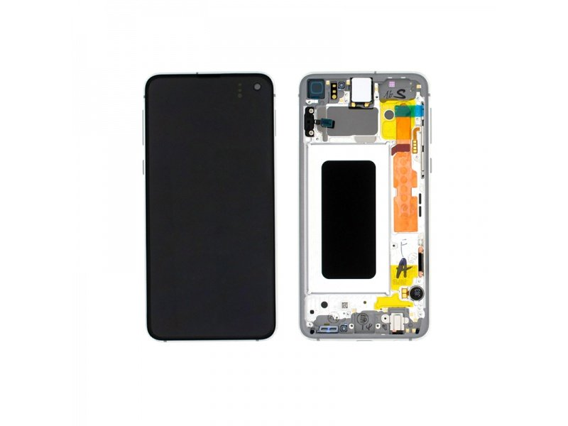 Samsung Galaxy S10e G970 LCD + Touch + Frame White (Service Pack)