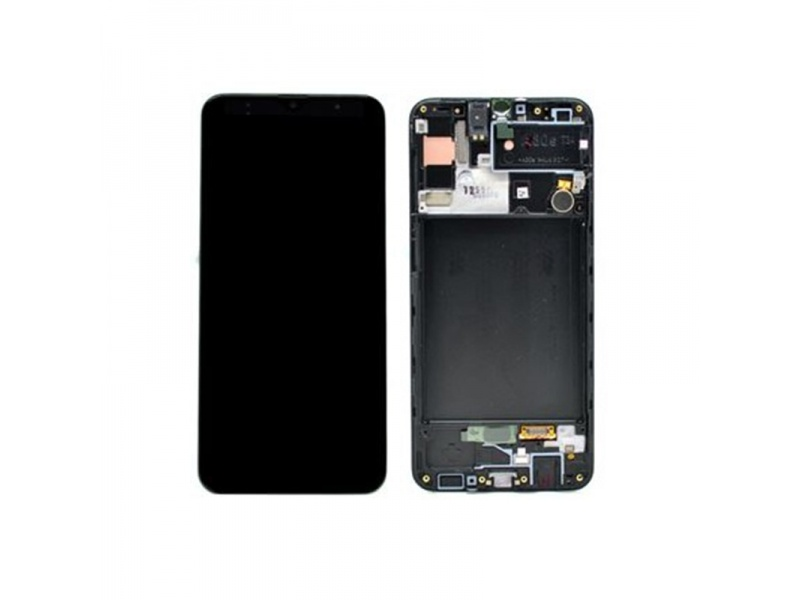 Samsung Galaxy A30s A307 LCD + Touch + Frame Black (Service Pack)