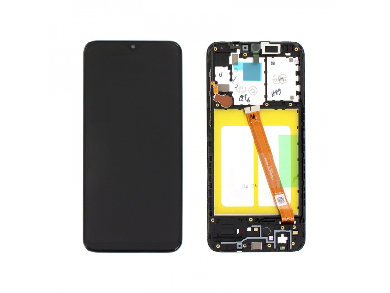 Samsung Galaxy A20e A202 LCD + Touch + Frame Black (Service Pack)