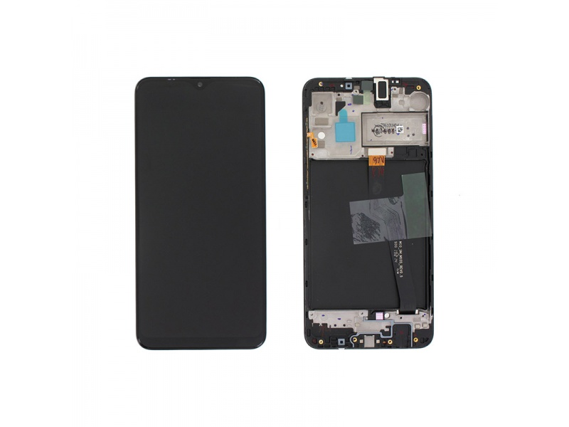 Samsung Galaxy A10 A105 LCD + Touch + Frame Black (Service Pack)