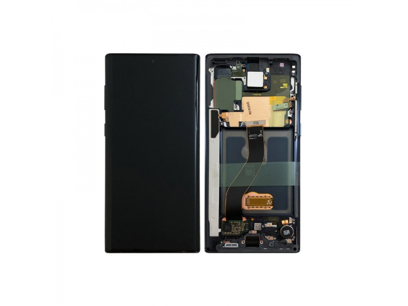 Samsung Galaxy Note 10 N970F LCD + Touch + Frame Aura Black (Service Pack)
