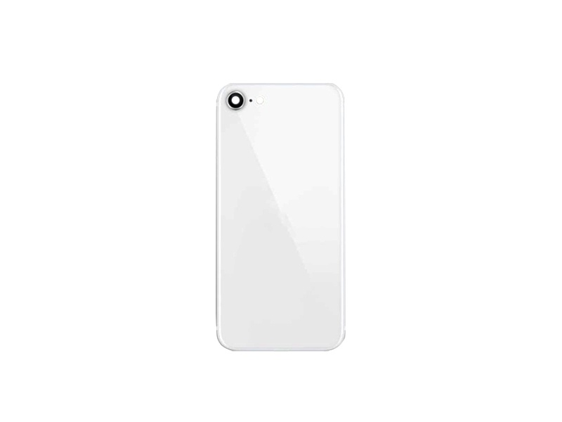 Back Cover Glass + Camera Cover pro Apple iPhone SE 2020 White