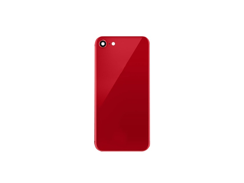 Back Cover Glass + Camera Cover pro Apple iPhone SE 2020 Red