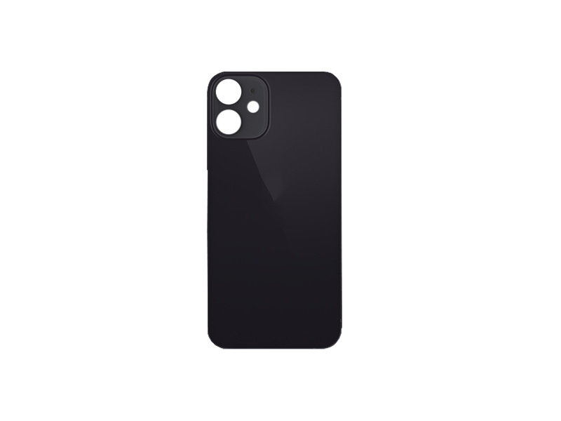 Back Cover Glass + Big Camera Hole pro Apple iPhone 12 Mini Black