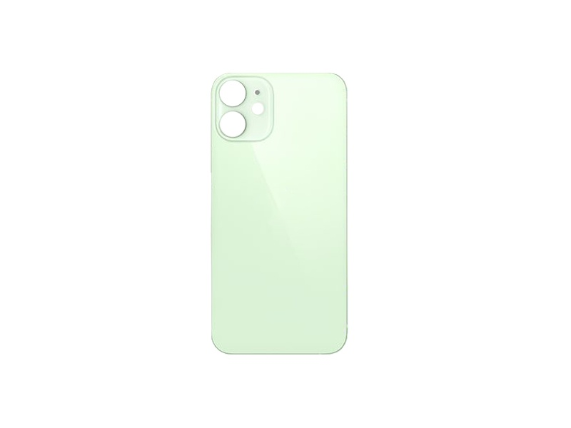 Back Cover Glass + Big Camera Hole pro Apple iPhone 12 Mini Green