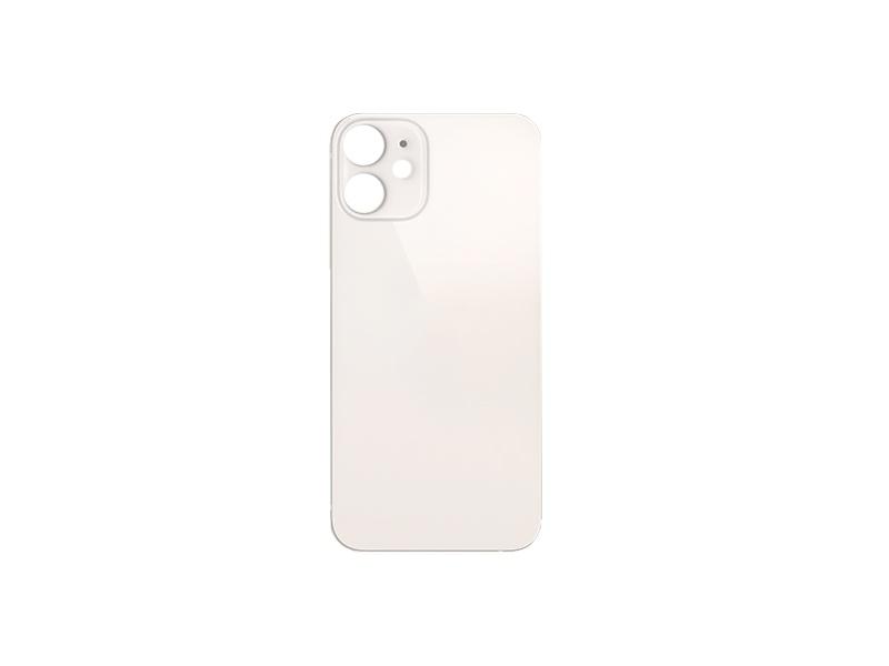 Back Cover Glass + Big Camera Hole pro Apple iPhone 12 Mini White