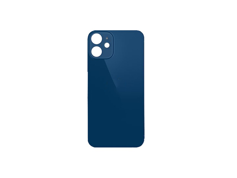 Back Cover Glass + Big Camera Hole pro Apple iPhone 12 Mini Blue