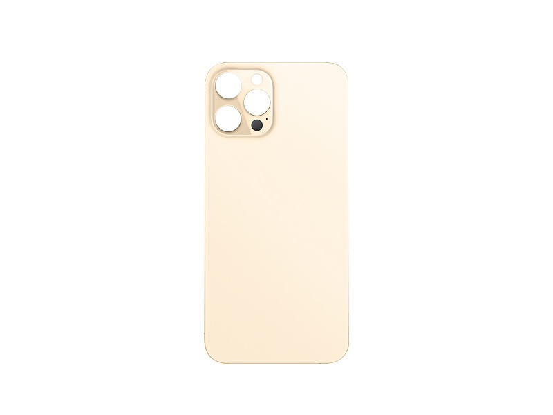Back Cover Glass + Big Camera Hole pro Apple iPhone 12 Pro Gold
