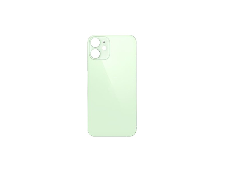 Back Cover Glass + Big Camera Hole pro Apple iPhone 12 Green