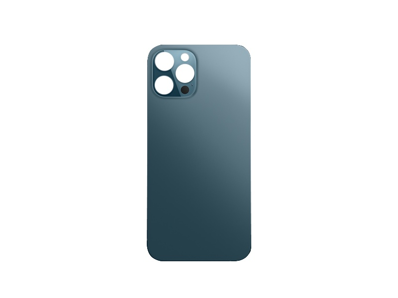 Back Cover Glass + Big Camera Hole pro Apple iPhone 12 Pro Pacific Blue