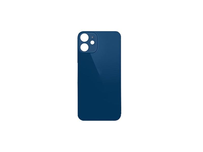 Back Cover Glass + Big Camera Hole pro Apple iPhone 12 Blue