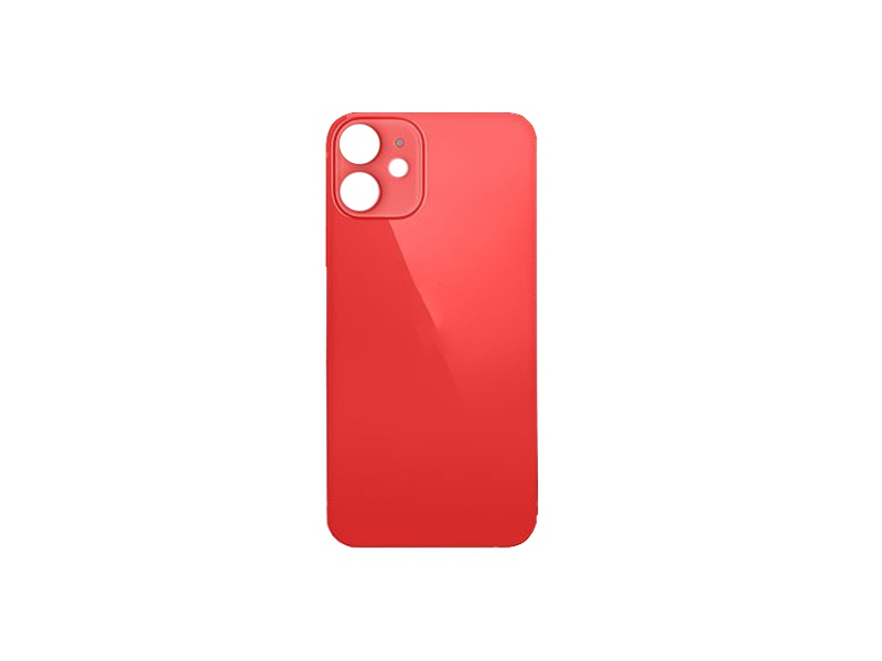 Back Cover Glass + Big Camera Hole pro Apple iPhone 12 Mini Red