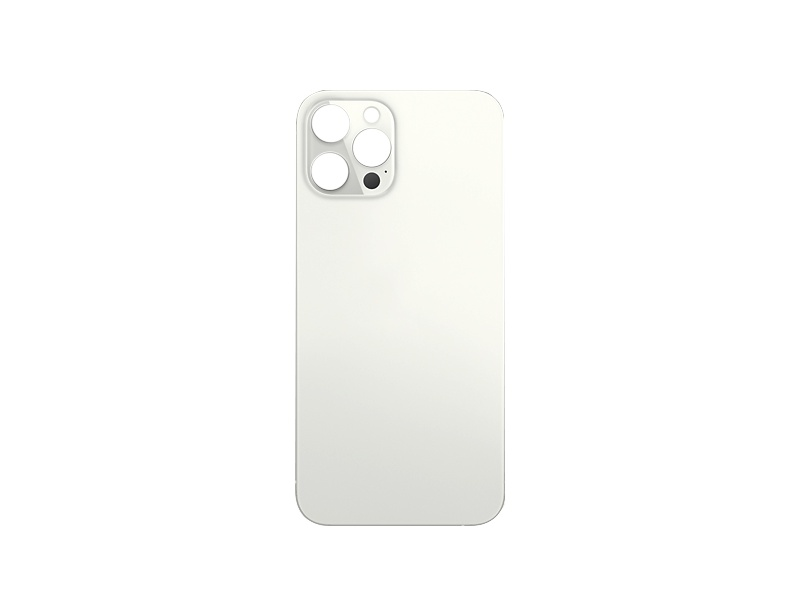 Back Cover Glass + Big Camera Hole pro Apple iPhone 12 Pro Silver