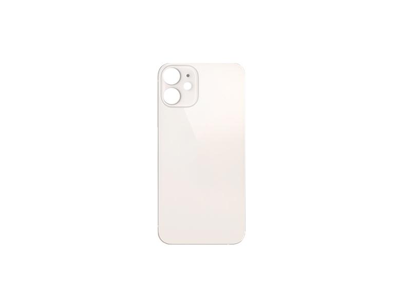 Back Cover Glass + Big Camera Hole pro Apple iPhone 12 White