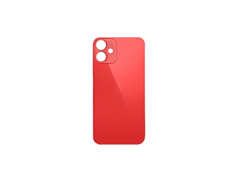 Back Cover Glass + Big Camera Hole pro Apple iPhone 12 Red