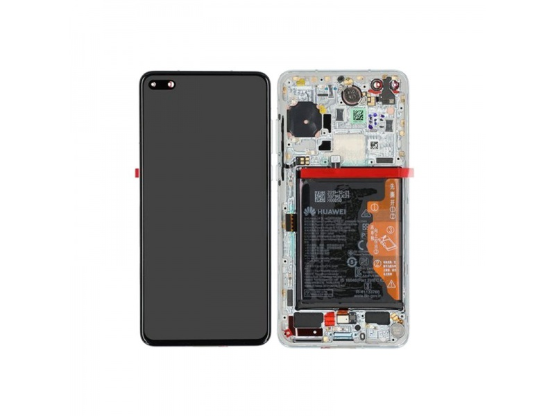 Huawei P40 LCD + Touch + Frame Ice White (Service Pack)