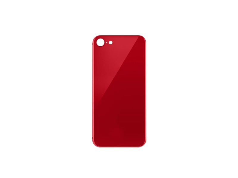 Back Cover Glass + Big Camera Hole pro Apple iPhone SE 2020 Red
