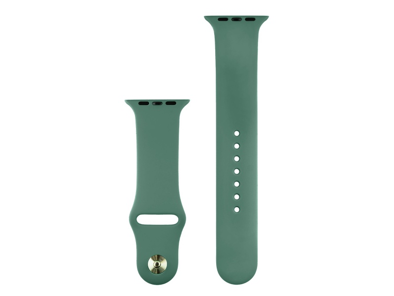COTEetCI Silicone Sports Band for Apple Watch 42 / 44mm Pine Needle Green