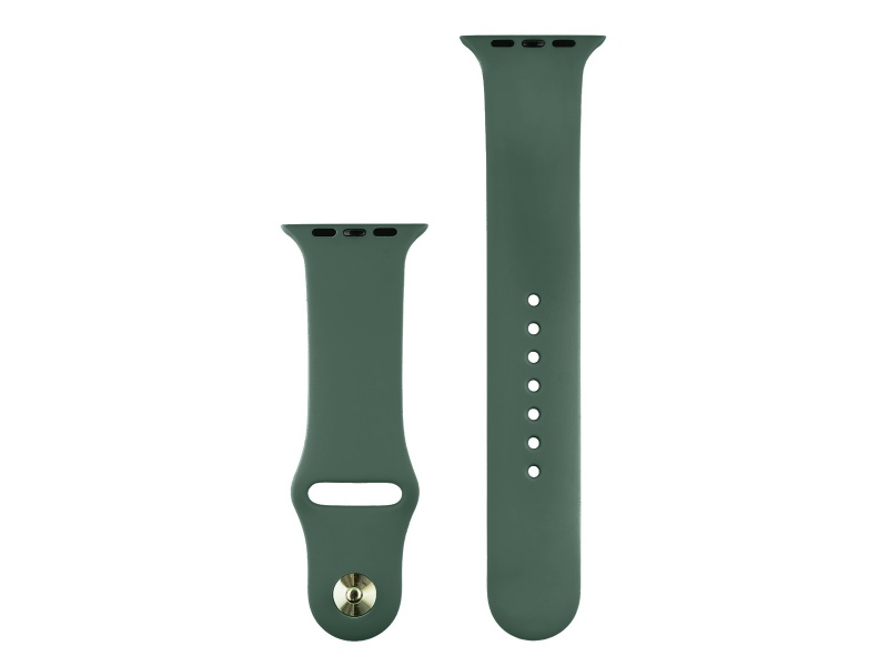COTEetCI Silicone Sports Band for Apple Watch 42 / 44mm Deep Green
