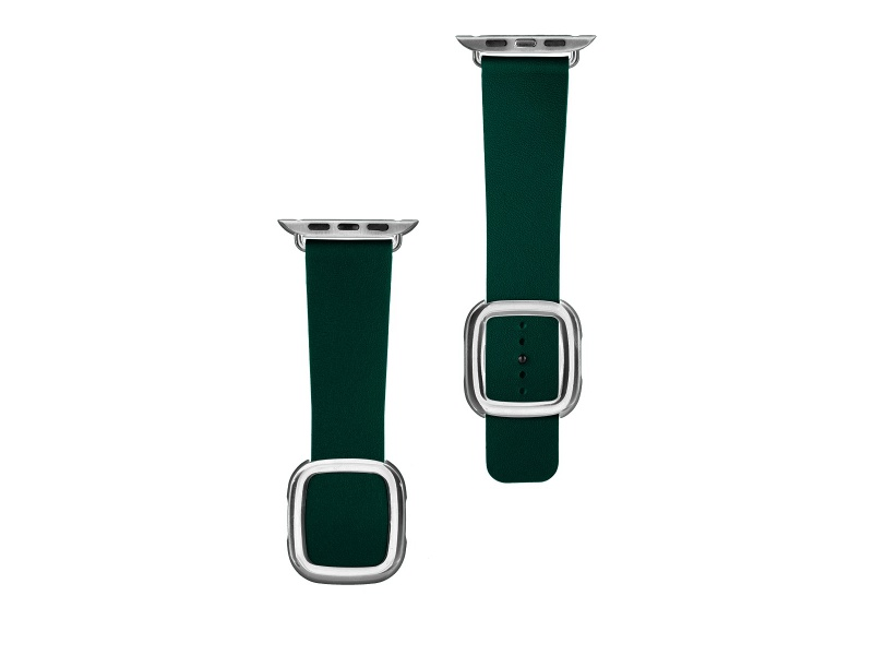 COTEetCI Nobleman - Leather Magnetic Closure Band for Apple Watch 38 / 40mm Green