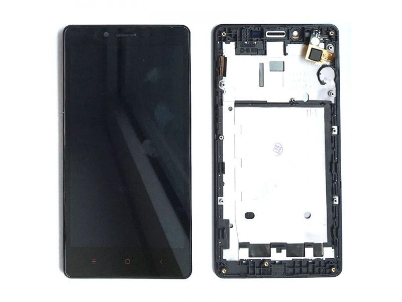 Xiaomi Redmi Note LCD + Touch + Frame (Assembled) - Black (OEM)