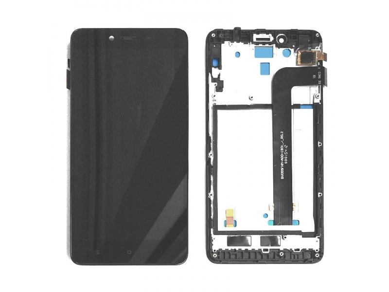 Xiaomi Redmi Note 3 LCD + Touch + Frame (Assembled) - Black (OEM)