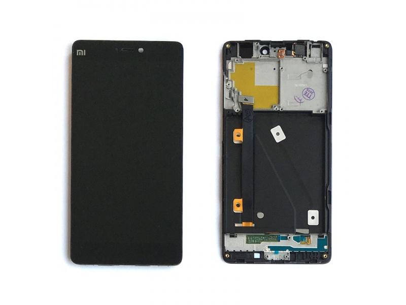 Xiaomi Mi4i LCD + Touch + Frame (Assembled) - Black (OEM)